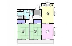 増島ハイツ[2階]の間取り