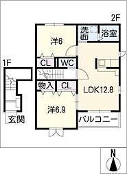 インサイド I[2階]の間取り