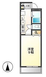 愛知県名古屋市中川区長須賀3丁目の賃貸アパートの間取り