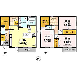 [一戸建] 鳥取県米子市皆生新田3丁目 の賃貸【/】の間取り