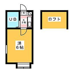 コスモ21刈谷[1階]の間取り