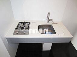グラン・アベニュー西大須の2口ガスコンロ付きのキッチン
