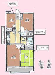 エス・バイ・エルマンション土浦[5階]の間取り