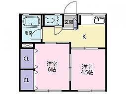 シティハイムKII[2階]の間取り