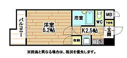 ギャラン黒崎[5階]の間取り