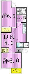 パール仲町マンション[3階]の間取り