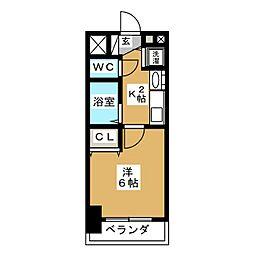 プレサンス桜通アベニュー[5階]の間取り