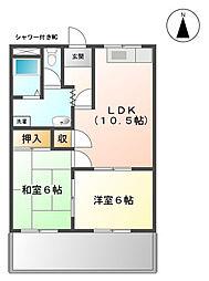 エルハウス浅井[2階]の間取り