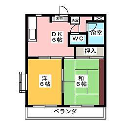 スカイアート[4階]の間取り