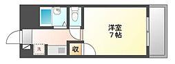 岡山県岡山市北区西之町の賃貸マンションの間取り