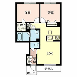シャーメゾンMSK A棟[1階]の間取り