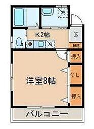 東京都新宿区百人町2丁目の賃貸アパートの間取り