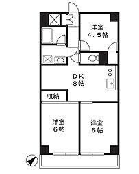 市ヶ尾センタービル[6階]の間取り