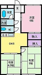 ハイツ宮崎[2階]の間取り