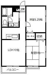 エミネンスハウスII B[3階]の間取り