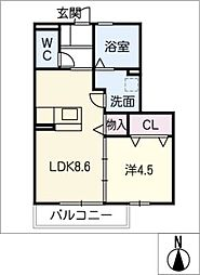 KM[2階]の間取り