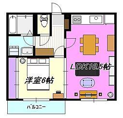 神奈川県茅ヶ崎市東海岸北1丁目の賃貸マンションの間取り