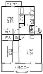 マンション山崎[3階]の間取り