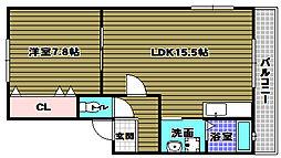 高岸マンション[4階]の間取り