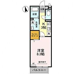 スタシオン東野・アクシス A棟[207号室号室]の間取り
