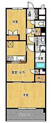横浜オーティービル[3階]の間取り