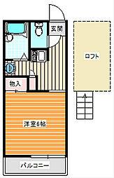 住之江公園[206号室]の間取り
