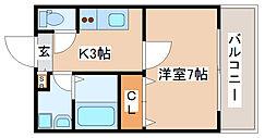 兵庫県神戸市長田区房王寺町1丁目の賃貸アパートの間取り