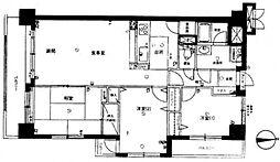 ライオンズマンション川口飯塚[6階]の間取り