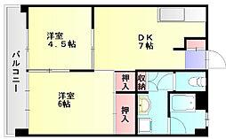 ルポ須玖南[4階]の間取り
