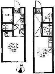 ハーミットクラブハウス根岸A棟[1階]の間取り