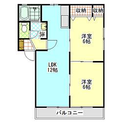 石川ハイツC[208号室]の間取り