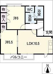 ファミーユA棟[1階]の間取り
