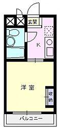 エマーユ川越脇田[205号室号室]の間取り