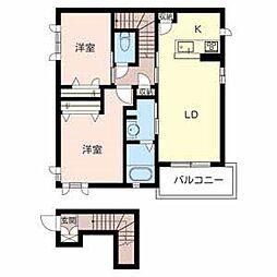 マシャンブル[A203号室]の間取り