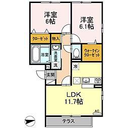 仮)D-room戸田[105号室]の間取り