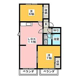 コーポ柴A[1階]の間取り