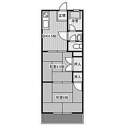 サンフラワーKII[2階]の間取り