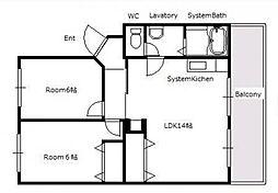 新宅第2マンション[3階]の間取り