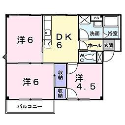 エンジェルハウス[2階]の間取り