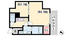 エヌエムスワサントアン 7階2Kの間取り