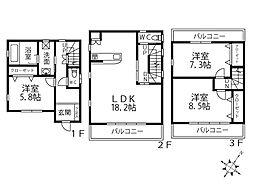 [一戸建] 大阪府東大阪市水走2丁目 の賃貸【/】の間取り