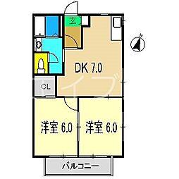 シャーメゾン井上[1階]の間取り