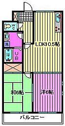 ミナモトマンション2[305号室]の間取り