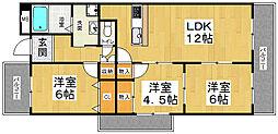 ナウボ1[2階]の間取り