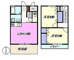 [テラスハウス] 神奈川県茅ヶ崎市浜之郷 の賃貸【/】の間取り