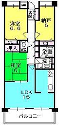 甲子園三番町ハイツ[310号室]の間取り
