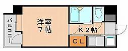 ピュアドーム博多アソシア[4階]の間取り