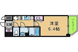 ララプレイス天王寺ルフレ 1階1Kの間取り