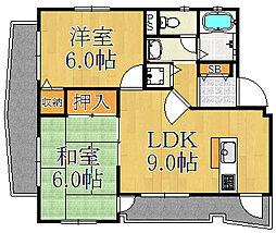 ドミール大森 C棟[3階]の間取り