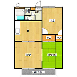カジュアルプラザA棟[2階]の間取り